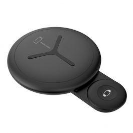 Bezdrôtová nabíjačka Sdesign DUAL Wireless Charging Pad - čierna