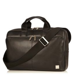 Knomo NEWBURY Full Leather Single Zip Briefcase 15inch - Black