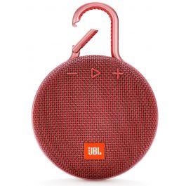 Bluetooth reproduktor JBL Clip 3 - červený
