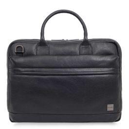 """Kožená taška pre MacBook Pro 15"""" Knomo FOSTER - čierna"""