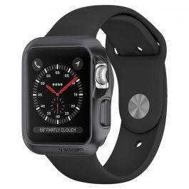 Spigen Slim Armor ochranné puzdro pre Apple Watch 3/2/1 38 mm - vesmírne šedé
