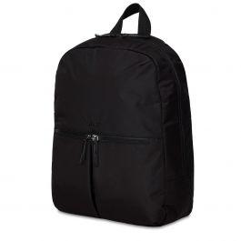 Knomo BERLIN Backpack 15-inch Polyester w Split Leather Trim - Čierny