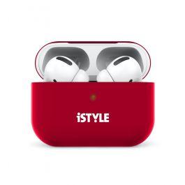 iSTYLE silikónový obal na AirPods Pro - červený