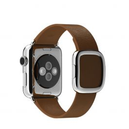 Apple Watch 38mm Band: Brown Modern Buckle - Small