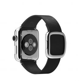 Apple Watch 38mm Band: Black Modern Buckle - Small