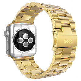 HOCO oceľový náramok Premium series pre Apple Watch 38mm - zlatý