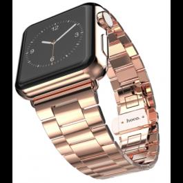 HOCO oceľový náramok Premium series pre Apple Watch 42mm - ružovo zlatý