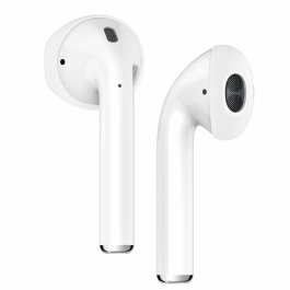 Silikónové nástavce na Apple AirPods Innocent Half Ear Hook - biele