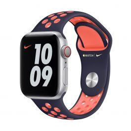 Apple Watch 40mm Nike Band: Blue Black/Bright Mango Nike Sport Band - Regular