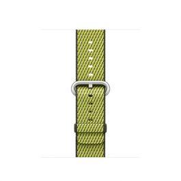 Remienok na Apple Watch 42mm nylonový - šachovnicový, tmavo olivový