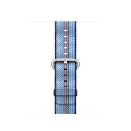 Remienok na Apple Watch 38mm, nylonový - polnočne modré pásiky