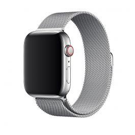 Apple Watch remienok 44mm milánsky ťah strieborný