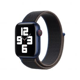 Apple Watch 44mm Band: Charcoal Sport Loop