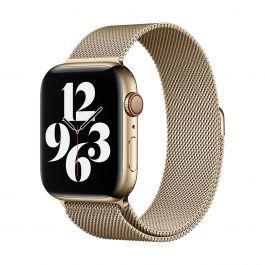 Apple Watch 44mm Band: Zlatý Milanese Loop