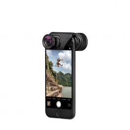 OlloClip - Active Lens objektív pre iPhone 7/7 Plus - čierny