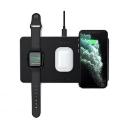 Satechi Trio Wireless Charging Pad (Apple Watch, Airpods, iPhone) - Čierna