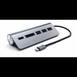 Satechi Type-C Hliníkový USB Hub & Čítačka kariet- space gray