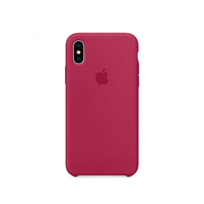 Apple - iPhone X silikónový kryt - ružovo červený  fa93cfe2f87