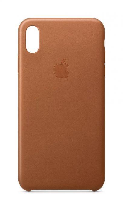 Kožený kryt Apple na iPhone XS Max sedlovo hnedý  b4ecad18b13