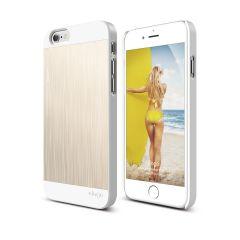Elago - S6P OUTFIT MATRIX dual case iPhone 6 Plus - White/Gold