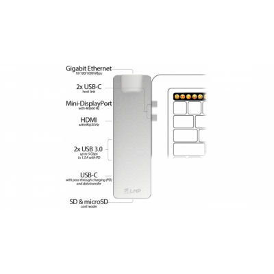 LMP Compact PRO dokovacia stanica s 8 portami - vesmírne šedá