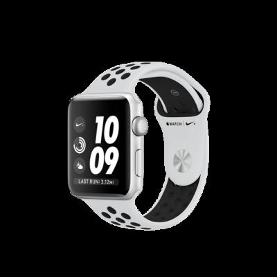 Apple Watch Series 3 Nike+ 42 mm - puzdro zo strieborného hliníku s platinovo/čiernym športovým náramkom Nike