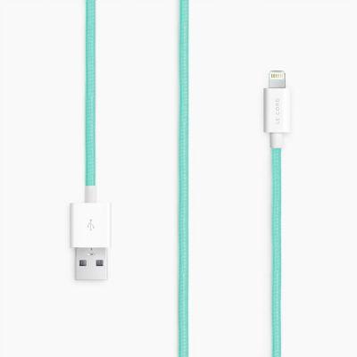 Le Cord Lightning kábel 1,2m - tyrkysový