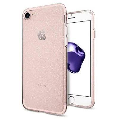 Kryt na iPhone 7/8 Plus Spigen Liquid Crystal Glitter - ružový s trblietkami