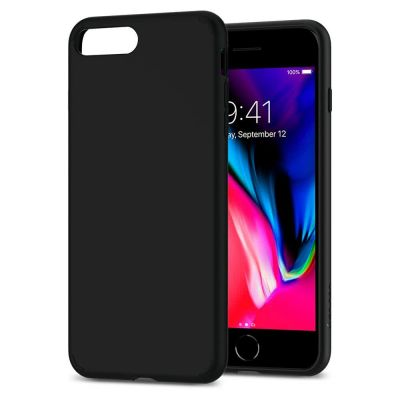 Kryt na iPhone 7/8 Plus Spigen Liquid Crystal, matný - čierny