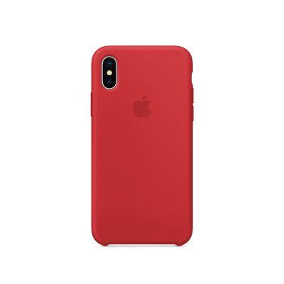 Apple - iPhone X silikónový kryt - červený (PRODUCT RED)