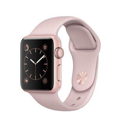 Apple Watch Series 1 - 38mm puzdro z ružovo zlatého hliníka - pieskovo ružový športový remienok