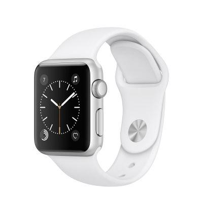 Apple Watch Series 1 - 38mm puzdro zo strieborného hliníka - biely športový remienok