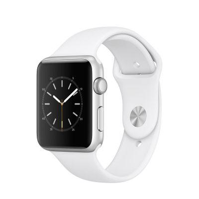 Apple Watch Series 1 - 42mm puzdro zo strieborného hliníka - biely športový remienok