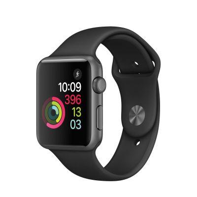 Apple Watch Series 1 - 42mm puzdro z vesmírne šedého hliníka - čierny športový remienok