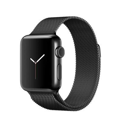 Apple Watch Series 2 - 38mm puzdro z vesmírne čiernej nerezovej ocele - vesmírne čierny milánsky ťah