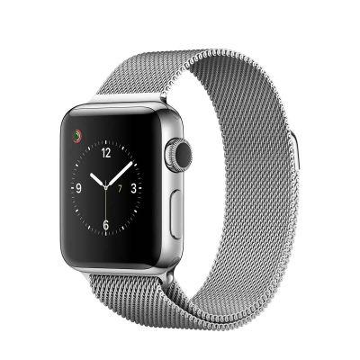Apple Watch Series 2 - 38mm puzdro z nerezovej ocele - milánsky ťah
