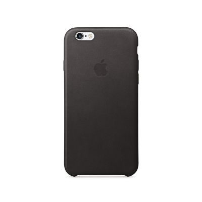 Apple - iPhone 6s Leather Case - Black