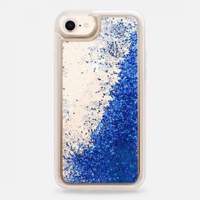 InnocentMade Glitter kryt pre iPhone 8/7 - modrý