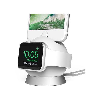 Nabíjací stojan na Apple Watch a iPhone iOttie OmniBolt - strieborný
