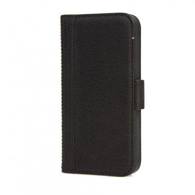 Obal na iPhone SE/5s/5 Decoded Wallet, kožený - čierny