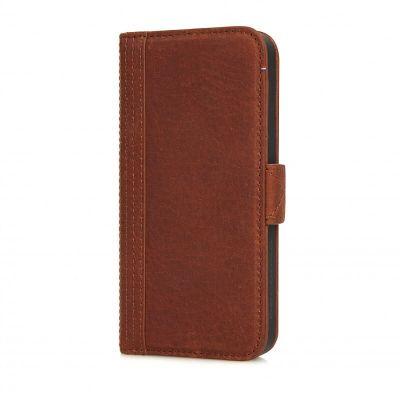 Obal na iPhone SE/5s/5 Decoded Wallet, kožený - hnedý