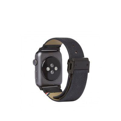 Decoded kožený remienok pre Apple Watch (42mm) - čierny