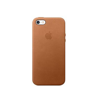Kožené puzdro pre iPhone SE - sedlovo hnedé