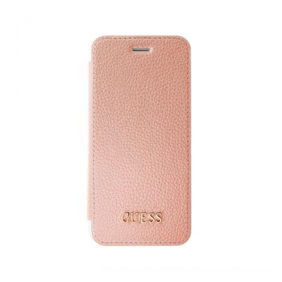 Guess IriDescent Book puzdro pre iPhone 7/6s/6 - ružovo zlaté
