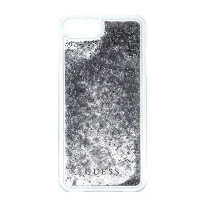 Guess Liquid Glitter puzdro pre iPhone 7/6s/6 - strieborné