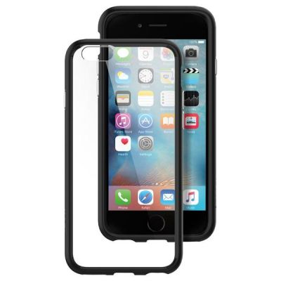 Spigen Ultra Hybrid, priehľadný kryt pre iPhone 6/6s (čierny rámik)