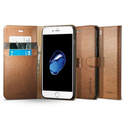 Spigen Wallet S puzdro pre iPhone 7 Plus - hnedé