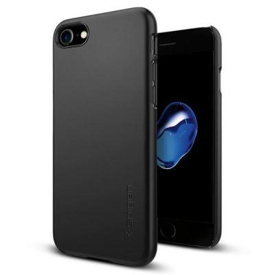 Kryt na iPhone 7 Spigen Thin Fit - čierny