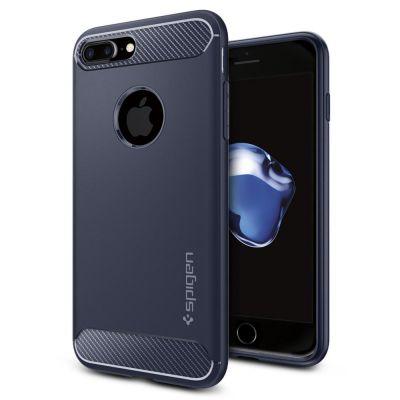 Spigen Rugged Armor odolné puzdro pre iPhone 7 Plus - polnočne modré