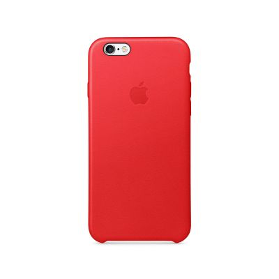 Apple - iPhone 6s Leather Case - (PRODUCT)RED